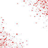 Red hearts confetti. Stock Images