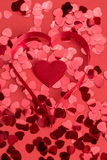 Red hearts confetti Royalty Free Stock Image