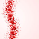Red hearts confetti wave Royalty Free Stock Images