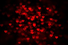 Red hearts dark background royalty free stock photography