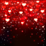 Red hearts on dark background Royalty Free Stock Photography