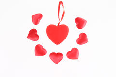 Red hearts decoration Stock Photo