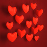 Red hearts design Stock Photo