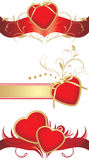 Red hearts for design to the Valentines day Royalty Free Stock Photos