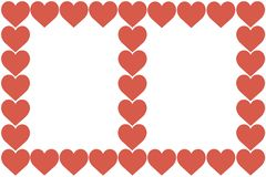 Red Hearts Design on White Background. Love, Heart, Valentine`s Day. Can be used for Articles, Printing, Illustration purpose,. Background, website, businesses royalty free illustration