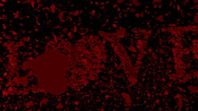 Red hearts falling on black surface with valentines message. Digital animation of Red hearts falling on black surface with valentines message stock video