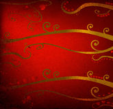 Red hearts and foliage Royalty Free Stock Images