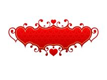 Red hearts frame Stock Image