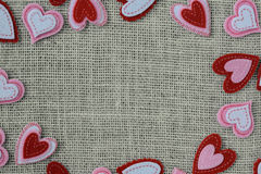 Red Hearts Frame or Border Royalty Free Stock Image