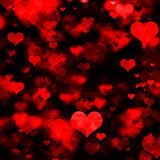Red Hearts Galore Royalty Free Stock Images