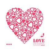 Red hearts greeting card Stock Photography