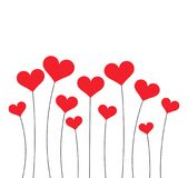 Red hearts growing Royalty Free Stock Image