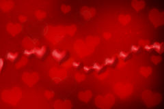 Red hearts Royalty Free Stock Photos