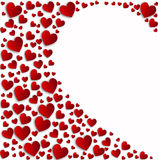 Red hearts half white heart Royalty Free Stock Photography
