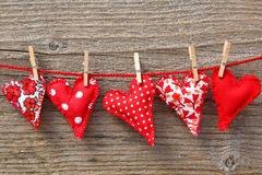 Free Red Hearts Hanging On Line Royalty Free Stock Image - 14803116