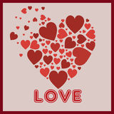 Red hearts in heart. Red heart in love heart Royalty Free Illustration