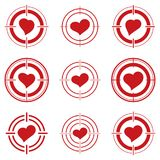 Red hearts. Stock Photo
