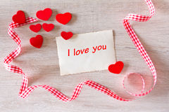 Red hearts I love you Royalty Free Stock Photography