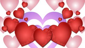 Red hearts illustration Royalty Free Stock Image