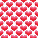 Hearts illustration seamless pattern Valentine`s day background colored red royalty free stock images