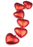 Red hearts isolated Stock Photos