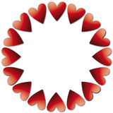 Red hearts for joy Stock Photography