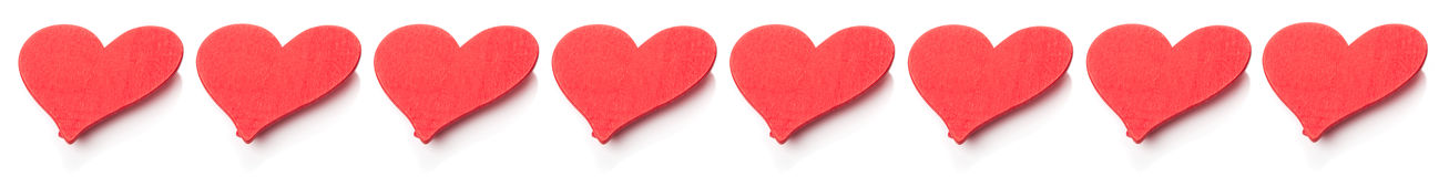 Red hearts, line Stock Photos