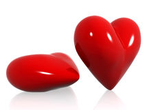 Red hearts of love Royalty Free Stock Photos