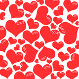 Red hearts and LOVE wording. Stock Images
