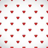 Red hearts patter over a white background Stock Photo