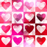 Red hearts pattern. Royalty Free Stock Photo