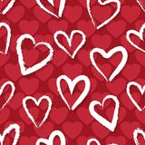 Red hearts pattern royalty free illustration