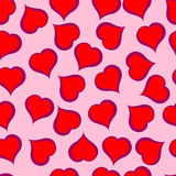 Red hearts pattern on pink background. Illustration. Red hearts pattern on pink background Royalty Free Illustration
