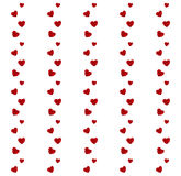 Red hearts pattern Stock Images