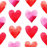 Red hearts pattern Royalty Free Stock Photo