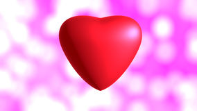 Red hearts. On pink background Stock Images
