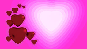 Red hearts. On pink background Royalty Free Illustration