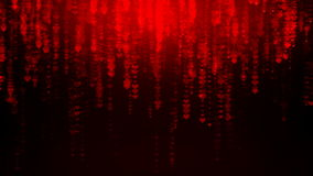 Red hearts rain falling. Animated background featuring red hearts rain falling simulating the matrix effect stock footage