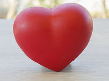 Red hearts represent love each other stock image