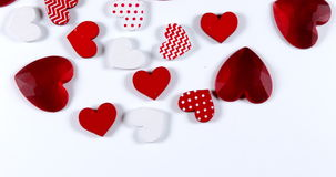 Red Hearts for Saint Valentine`s Day,. Real Time 4K stock video footage