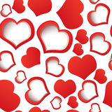 Red hearts seamless Stock Photo