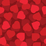 Red hearts seamless background Stock Photos