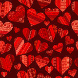 Red hearts seamless Royalty Free Stock Images