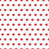Red hearts seamless pattern Stock Photo