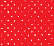 Red hearts seamless pattern with love Royalty Free Stock Photography