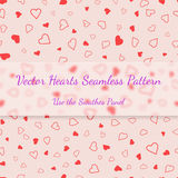 Red hearts seamless pattern valentines texture Royalty Free Stock Images