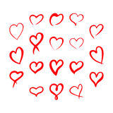 Red hearts set, Valentine day love adult xxl design Stock Photography
