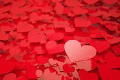 Red Hearts. With shallow depth of field Stock Image
