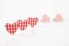 Red Hearts, shalow dof Stock Photography