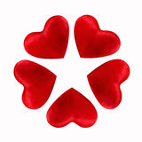 Red hearts shaped flower Royalty Free Stock Photography